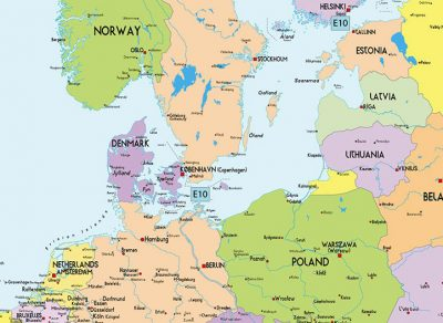 Где находится Дания на карте мира