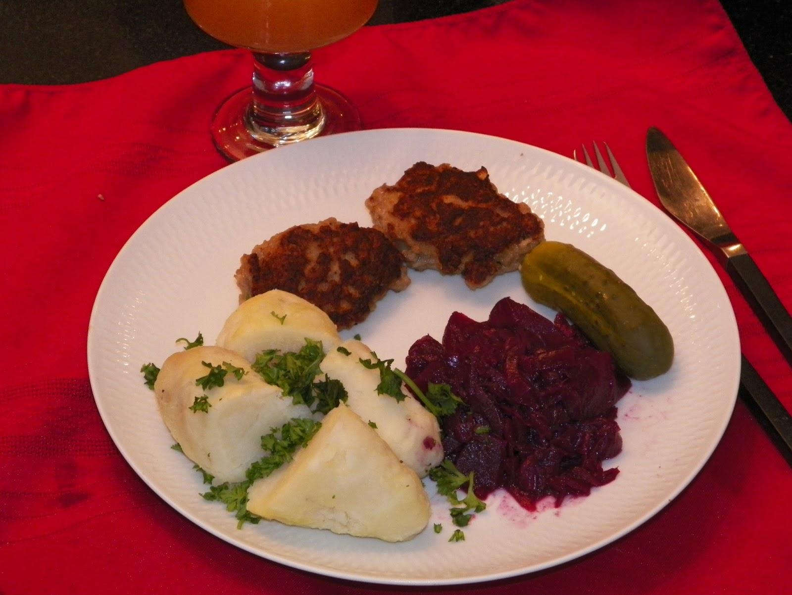 Традиционный датский ужин с фрикадельками